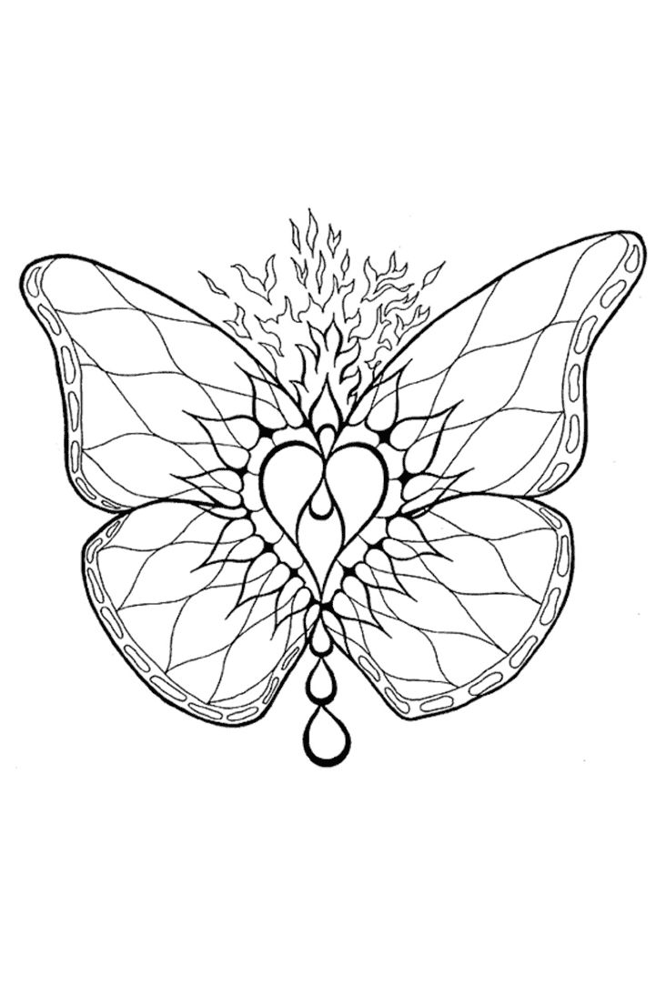 63 best coloring pages butterflies images on pinterest