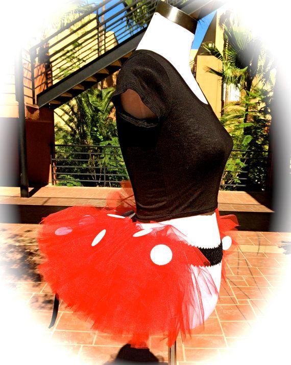 Adult Minnie Themed Half Tutu, Bachelorette Tutu, Princess Running TuTu, Ruffle Butt Tutu, Adult Tutu, Wine and Dine Tutu