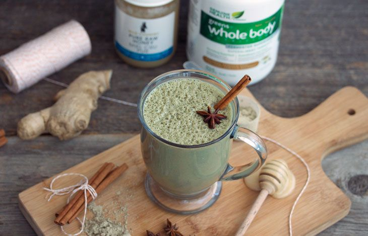 Take the chill out winter with the warming spices of cinnamon, nutmeg, and cloves in this greens+ whole body chai […]