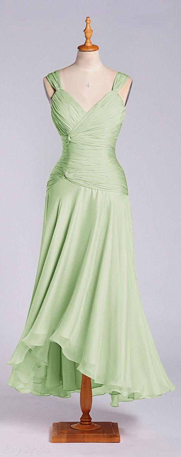 Adorona A-Line Tea Length Formal Dress