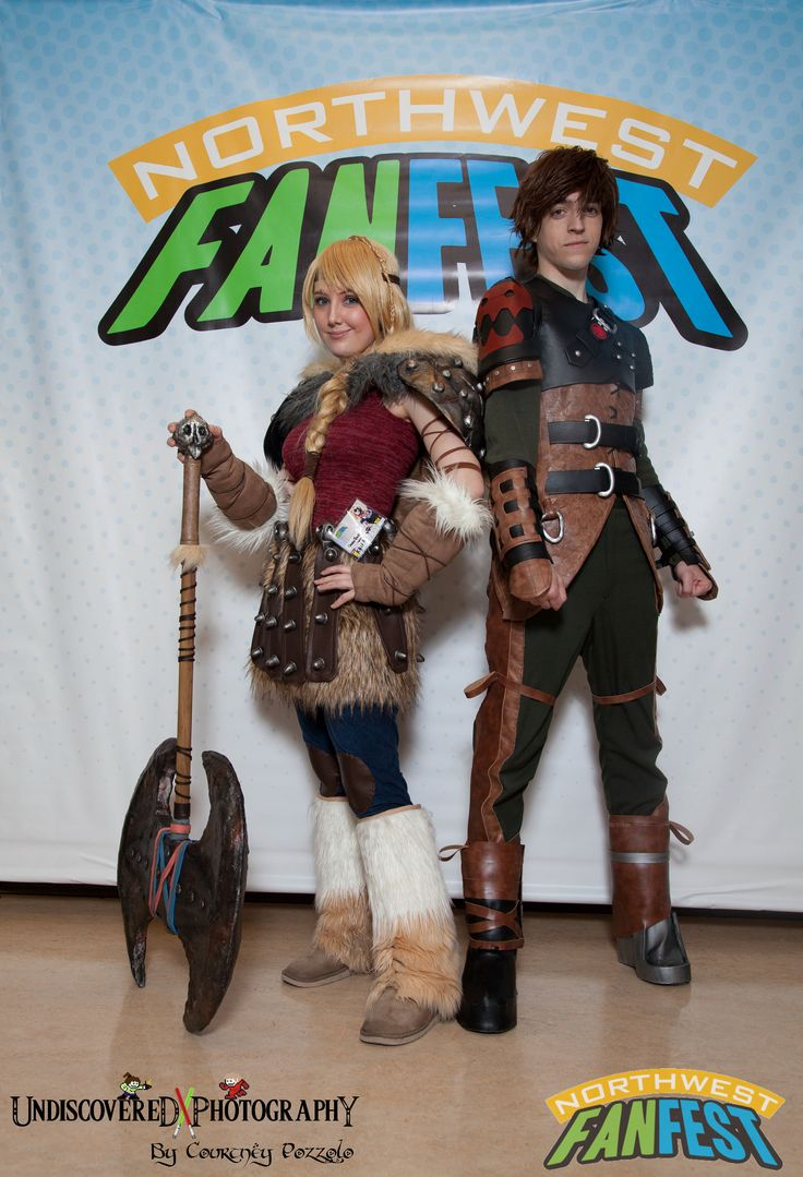 Tarah Rex And Remi Whiteriver As Astrid And Hiccup From How To Train Your  Dragon 2