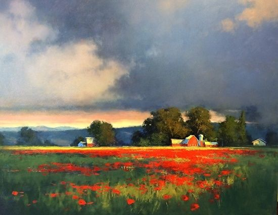 Poppy Farm by Romona Youngquist  ~ 48 x 60