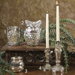 Add Some Year-Round Glitz and Glam to Your Home With Shimmery Mercury Glass Decor.