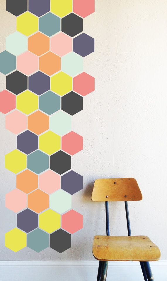 Hellen Honey Comb WALL DECAL von TheLovelyWall auf Etsy