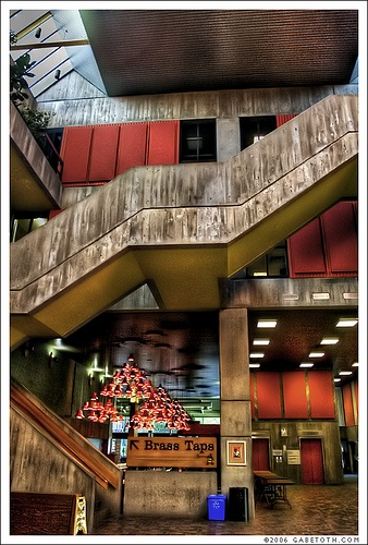University Centre staircase at the University of Guelph.     Wonderful example of brutalist architecture.