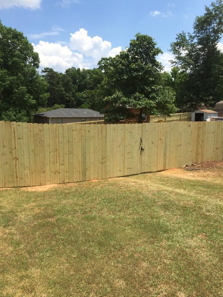 Fence installation.