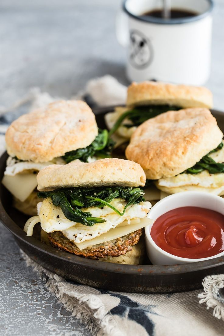 Egg White And Spinach Breakfast Biscuits Recipe Healthy