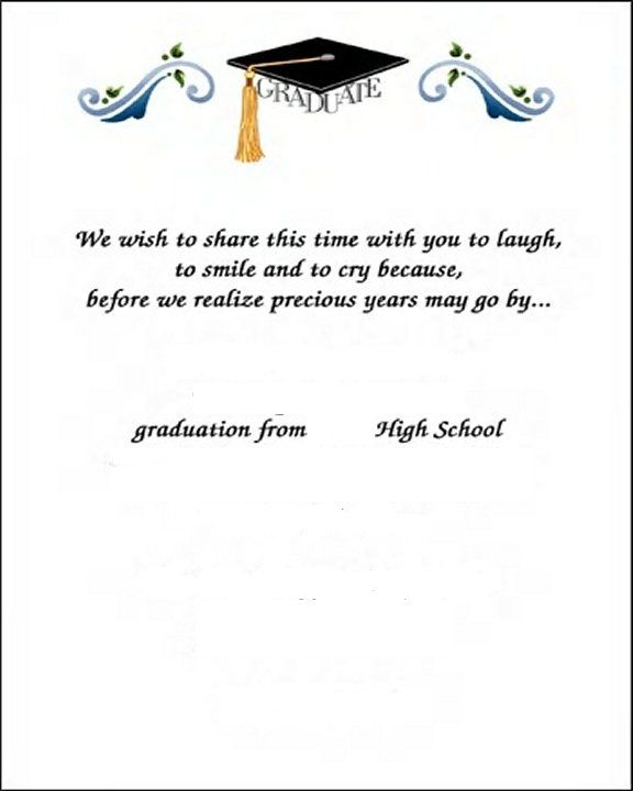 Graduation Thank You Card Samples For Free