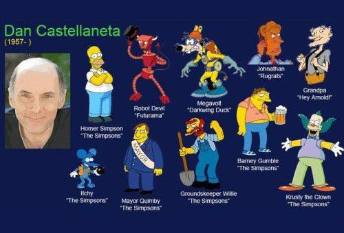 """Dan Castellaneta (1957-) Robot Devil """"Futurama"""" Homer Simpson The Simpsons The Simpsons Mayor Quimby The Simpsons Hey Arnoldr """"Darkwing Duck Barney Gumble The Simpsons Groundskeeper Wllie Krusty the Clown"""