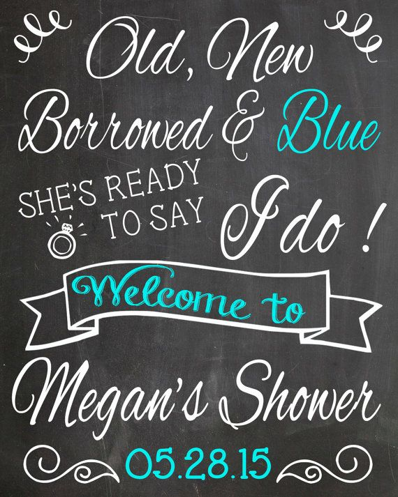 Bridal Shower Chalkboard Sign// Old New by LaLaExpressions on Etsy
