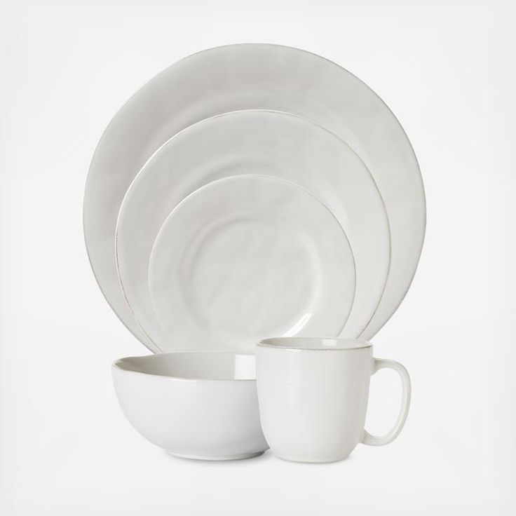 The Puro Place Setting's design was inspired by the Portuguese regard for objects found in their most natural and uncontrived state. Timeless and modern, these richly textural dishes are the perfect neutral canvass to serve up your every culinary adventure.  Includes: Dinner Plate Dessert Plate Side Plate Cereal Bowl Mug