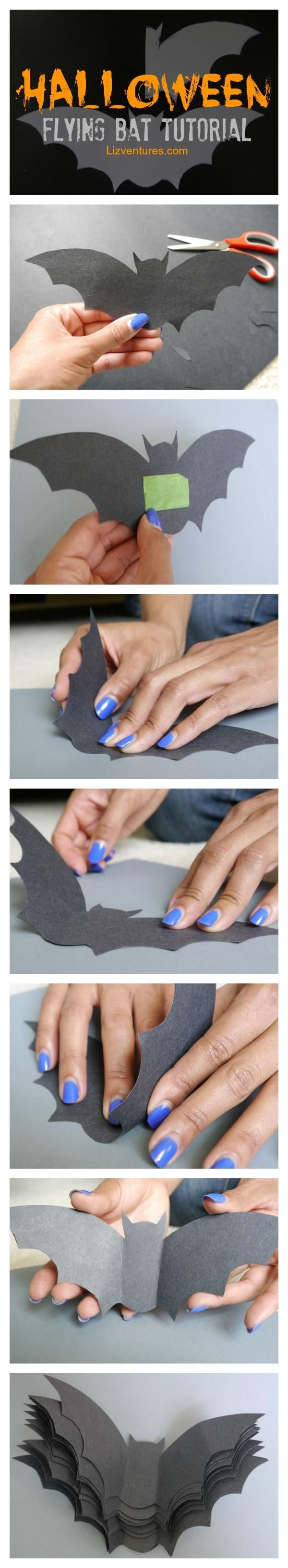 Flying Halloween Bats Tutorial + Free Printable!