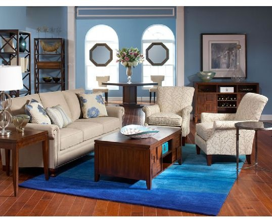 Chartres with Campton Living Room by CORT -- Relaxing seaside colors for your living room. | CORT.com