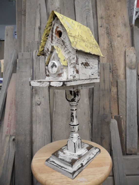 Vintage victorian birdhouse made with antique by LynxCreekDesigns, $69.99