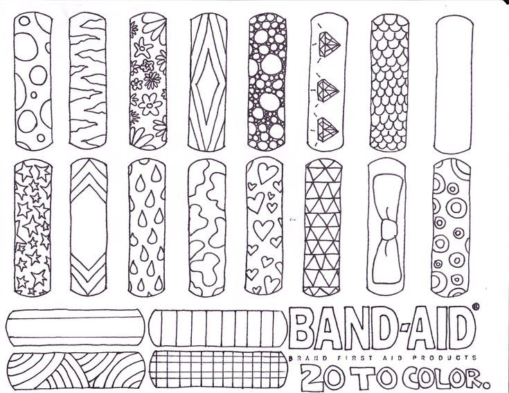 Challenging Coloring Pages Coloring Page Band Aid Invented Coloring Page Year Round Sun Safety Brownie Girl Scouts Girl Scouts Girl Scout Activities