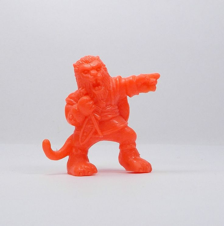 Monster In My Pocket - Series 1 - 43 The Beast - Neon Red - Mini Figure