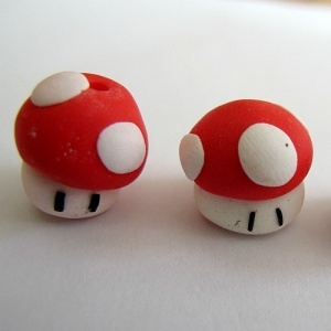 Fimo Toadstool Beads.