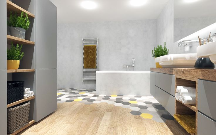 #hexagon #bathroom on Behance