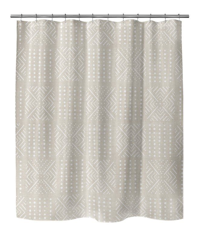 Geometric Shower Curtain With Single Sided
