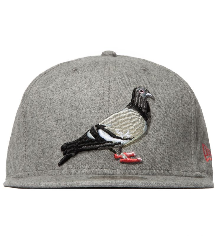 fitted caps... (Big City eagle)  Heather Grey Pigeon Fitted New Era Cap