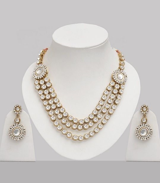 Bollywood Jewelry Set Studded With Stones