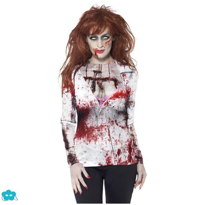 Camiseta Zombie para mujer