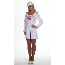 Déguisement marin femme de la marine luxe