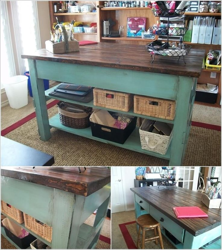 10 Cool DIY Craft Table Ideas for Your Craft Room   Craft ...