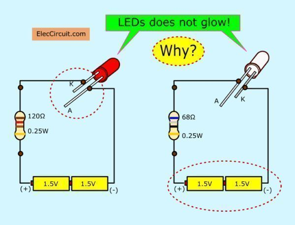 Why Led Does Not Glow Basic Electronic Circuits Electronic Engineering Mechanical Engine In 2020 Basic Electronic Circuits Electronic Circuit Projects Circuit Theory