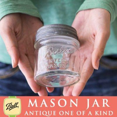 画像4: 【超希少!激レア】アンティーク メイソンジャー Ball Mason jar  ビンテージ ハーフパイント ミニ クリア