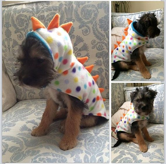 Bea'spoke Dog Puppy Dino Dinosaur Coat Clothing by BeaspokeEtsy