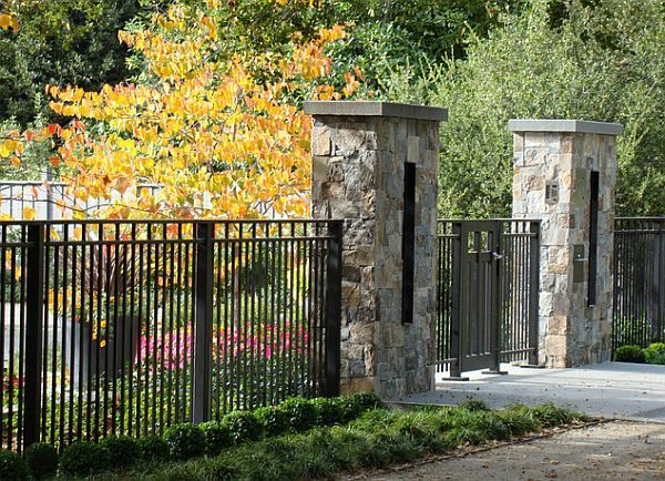 best looking back yards | wrought iron fence 5 Backyard Fence Types