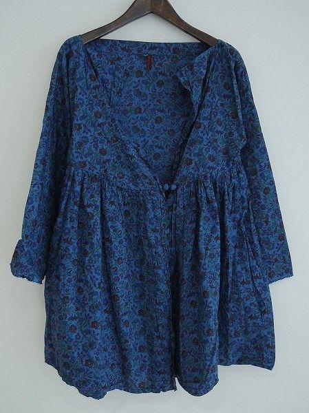 mysterious indigo blouse