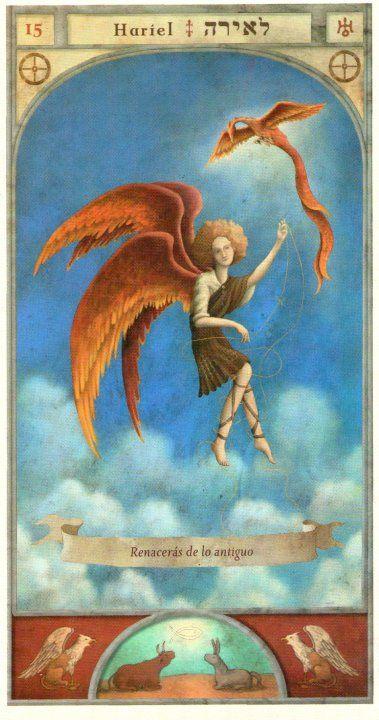 (15) HARIEL (Kabbalistic angel) protects those born 01 - 05 June, allows lost objects to be found. (ángel Cabalístico) protege aquellos nacidos 01 - 05 junio, permite encontrar objetos desaparecidos.