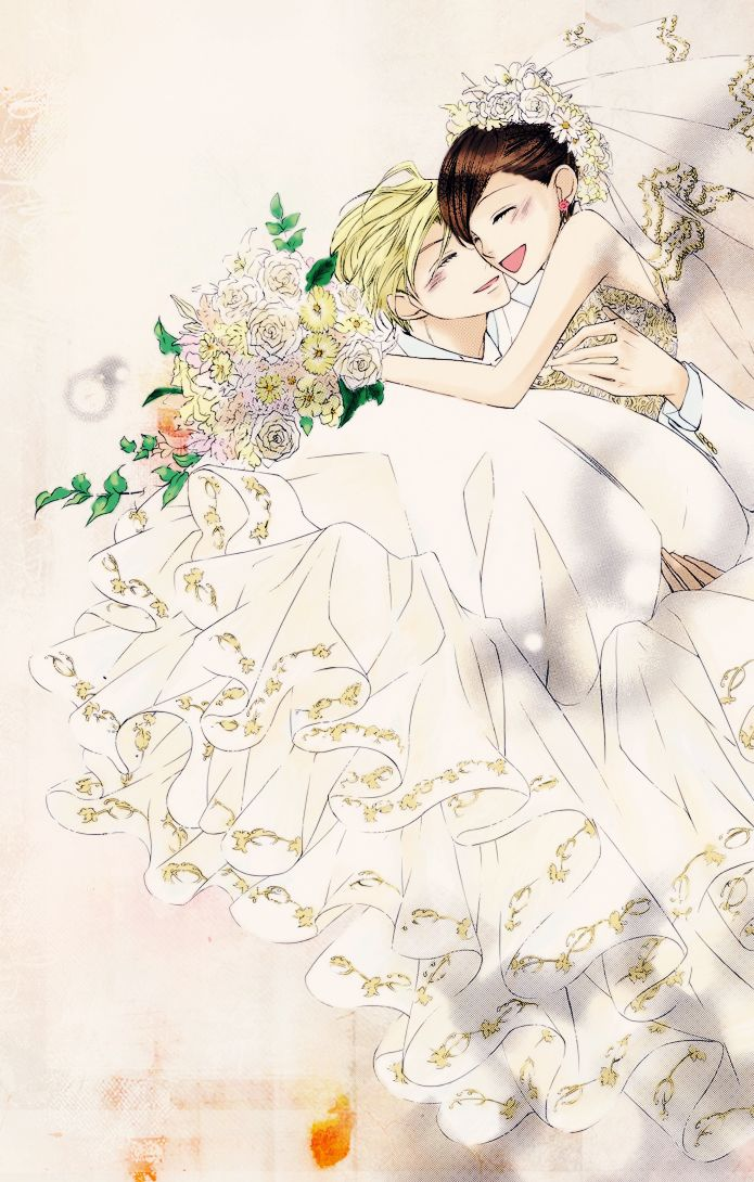 Wedding!!!!! HARUHI x TAMAKI!!!!! Wow. This colouring is so beautiful!