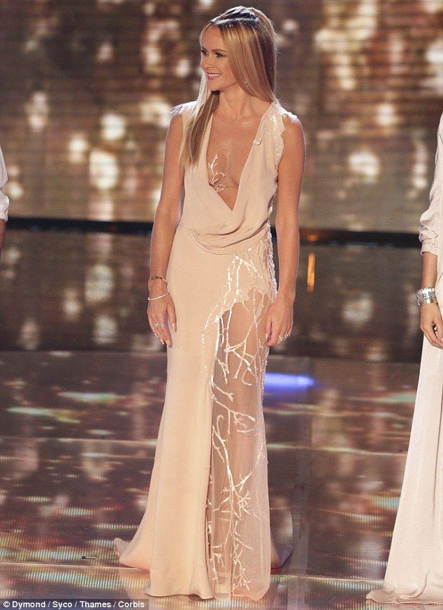 Shocked: Many viewers were not impressed with Amanda's daring dress which left little to the imagination