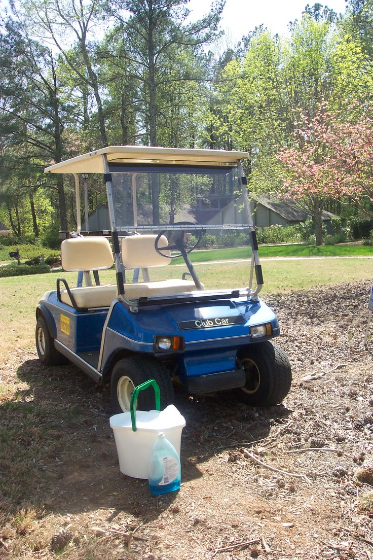 Washing your golf cart windshield requires using the right cleaner and it's not Windex.  Find out how to prevent it from becoming hazy and foggy.