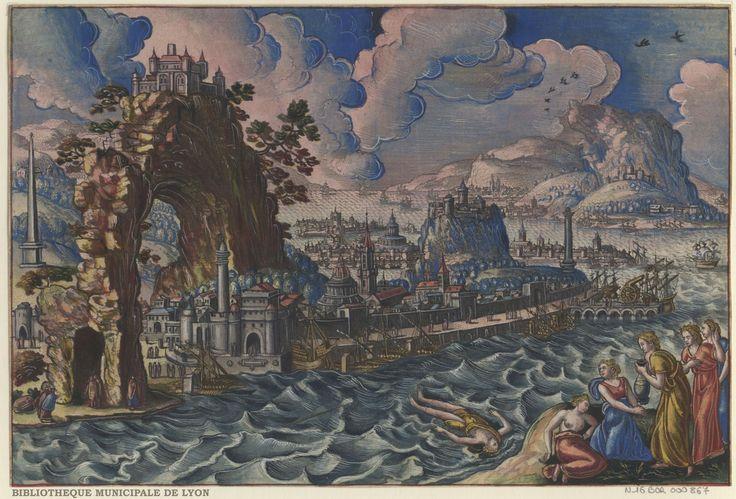 Hecuba and her maids are mourning Polydore by Peeter van der Borcht, 16th century. Bibliothèque Municipale De Lyon, Public Domain