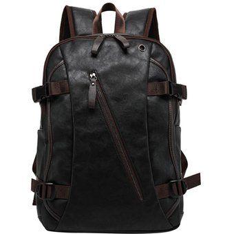Compra 360DSC 8103 hombres de la moda de cuero PU morral Bolsa de viaje - Negro + Café online ✓ Encuentra los mejores productos Maletas de viaje 360DSC en Linio Perú ✓