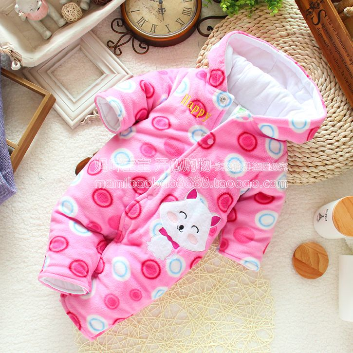 >> Click to Buy << newborn baby girl's fleece romper for winter , female children's long sleeve cotton-padded jumpsuits one piece baby clothes #Affiliate