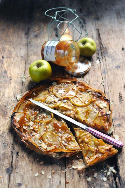 Tarte fine à la pomme et à la Confiture de Lait #BonneMaman pour un moment…  #BONNEMAMAN