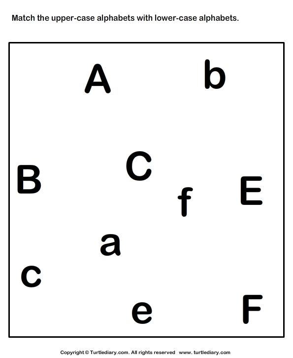 Match Upper Lower Letters Worksheets