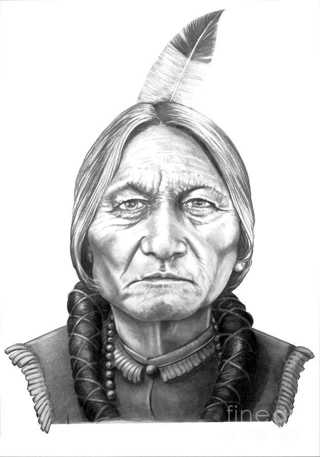 Chief Sitting Bull Drawing by:  Murphy Elliott Plant City, Florida