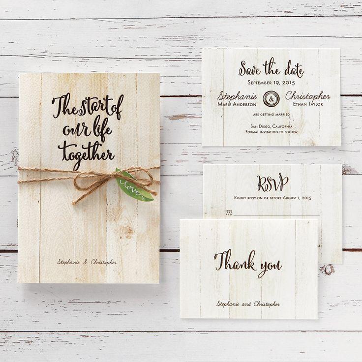 Rustic wedding invitations from @bwedding #nature #organic #wood #wedding #stationery
