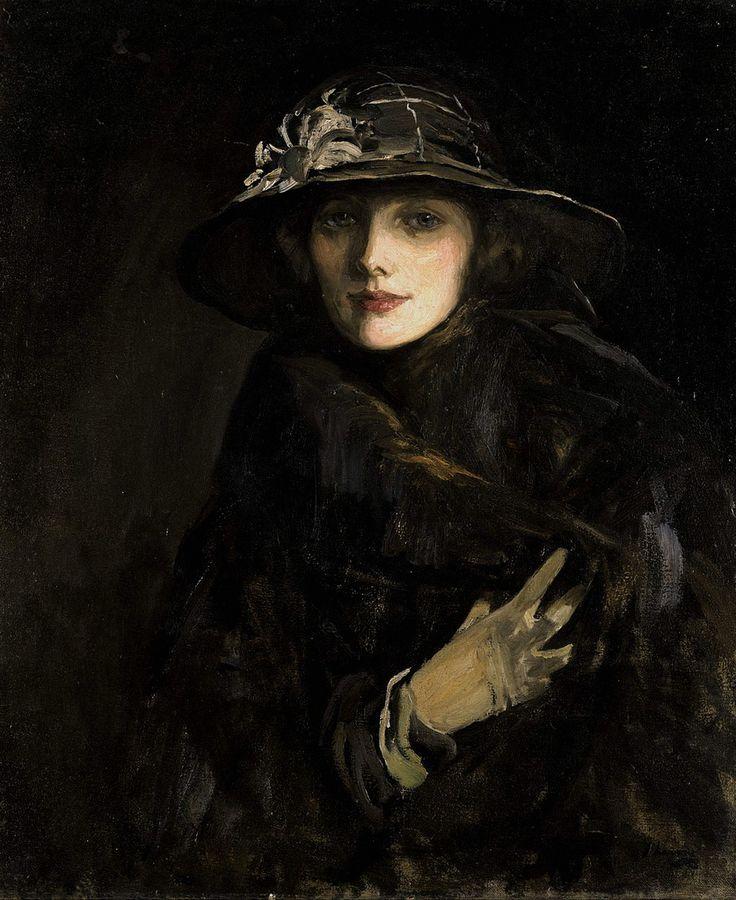 John Lavery - Portrait of Lady Gwendolyne Churchill - 1915