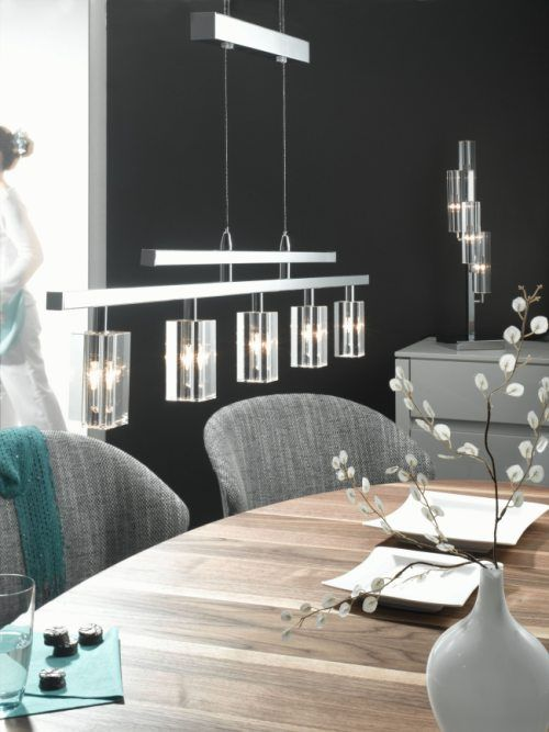 Glass Crystal Five Light Lighting UkDining Room