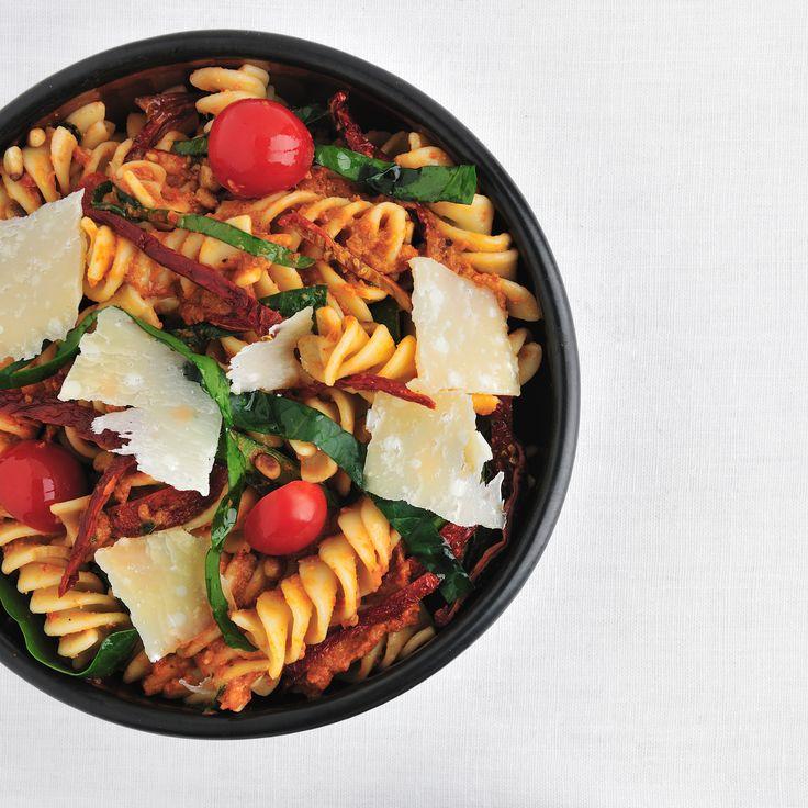 Fusilli with Spinach and Sun-Dried-Tomato Pesto | Food & Wine