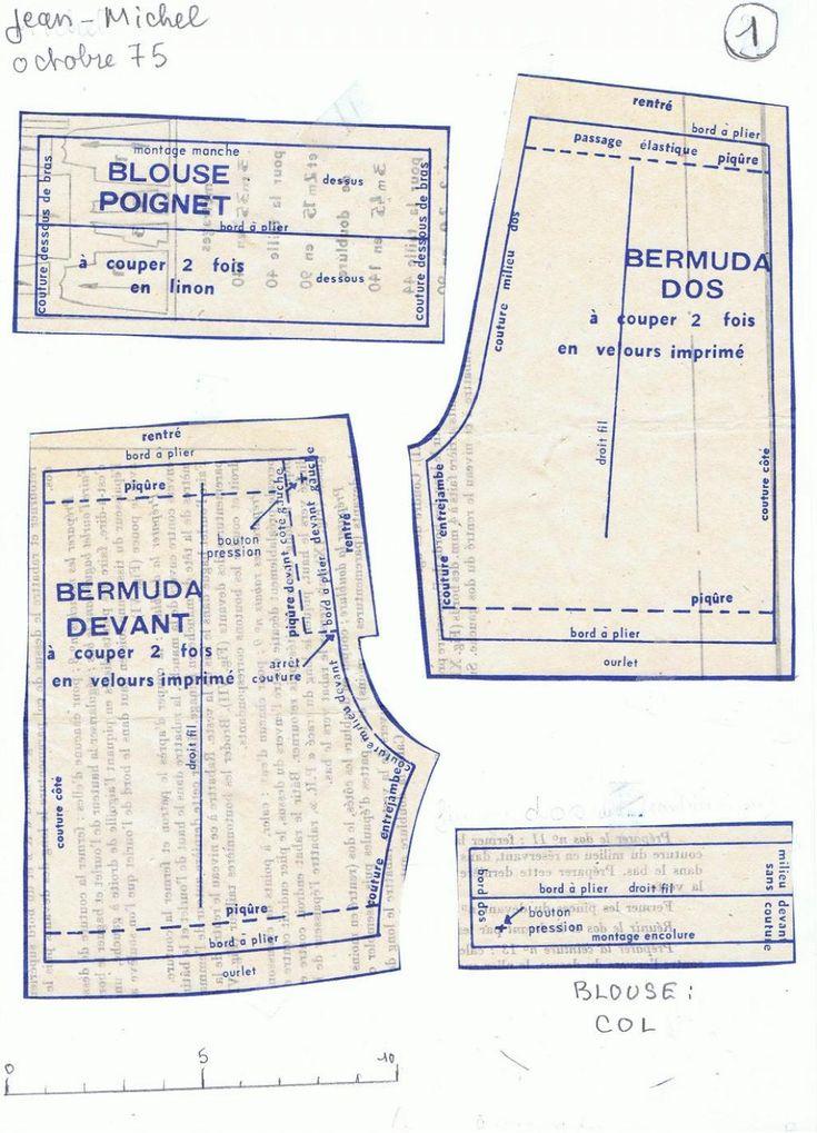 PAR AMOUR DES POUPEES :: M&T 1975-10 Tenues habillées pour les garçons