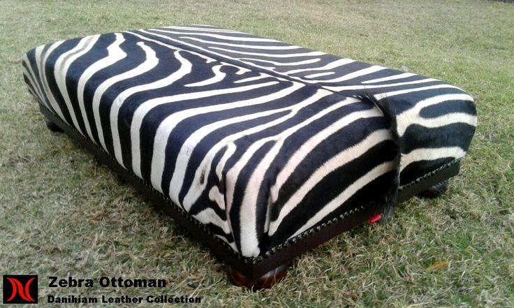 Zebra Ottoman #danihiam Danihiam Leather Collection www.dlcleather.co.za info@dlcleather.co.za