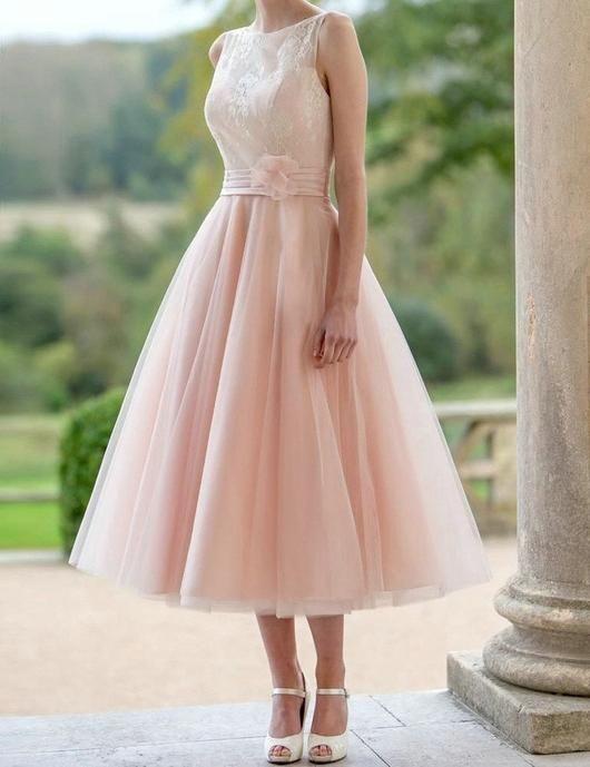 A-line Prom Dresses,Sweetheart Prom Dress,Sleeveless Prom Dress,Tea Length Prom Dress,Cheap Prom Dress,PD0040